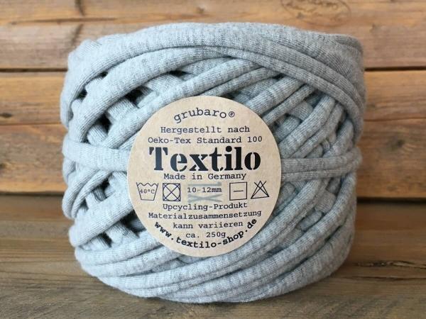 Textilo Hellgrau Melange Typ T Textilgarn