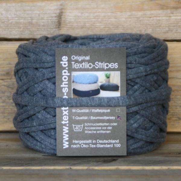 Textilgarn Textilo blaugrau melange Typ T
