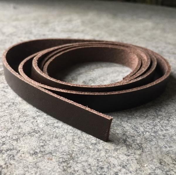 1 Meter Lederband 10mm breit dunkelbraun