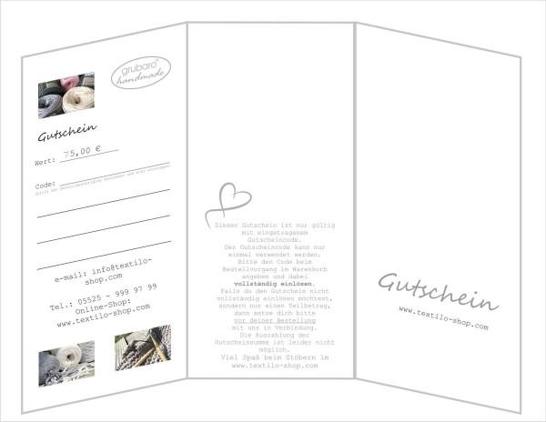 Geschenk-Gutschein 75,00€