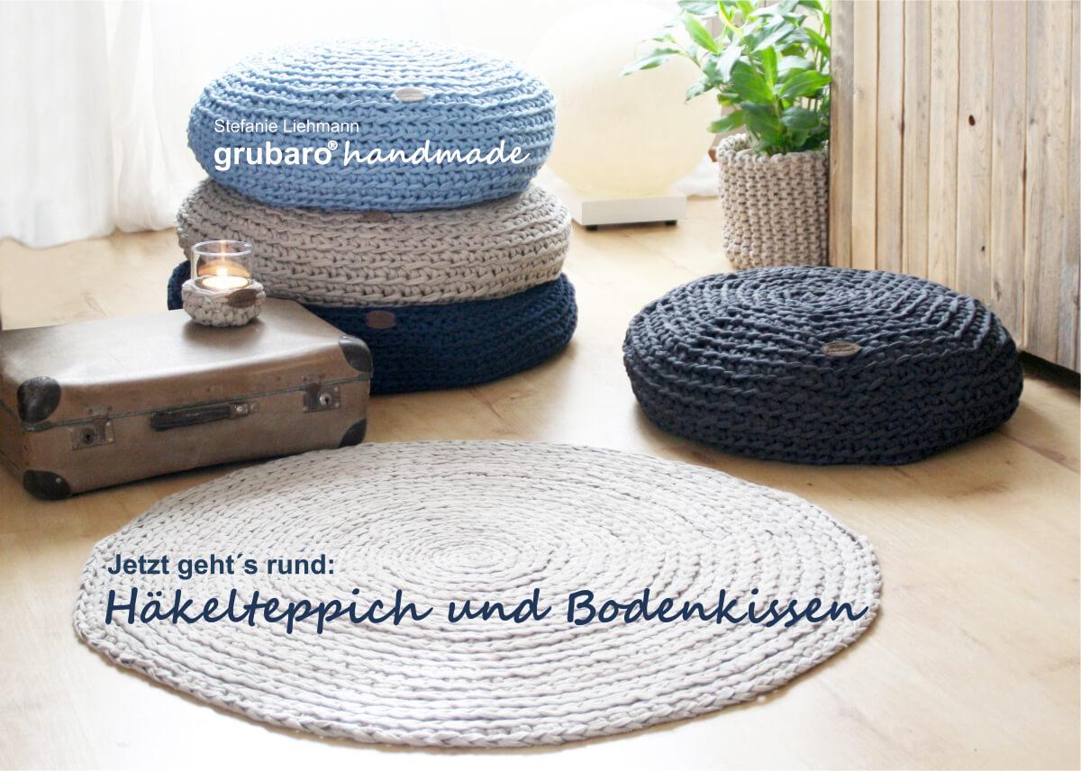 Heft 7 Häkelteppich Und Bodenkissen Aus Textilo Textilgarn