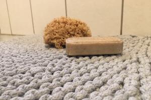Teppich aus Kordel L Detail