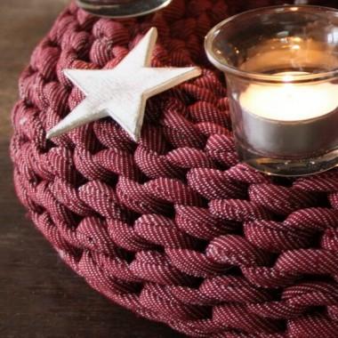 Adventskranz aus Textilgarn