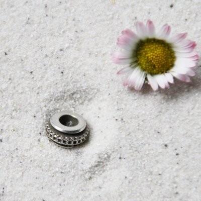 Metallscheibe Ø 10 x 5 mm versilbert