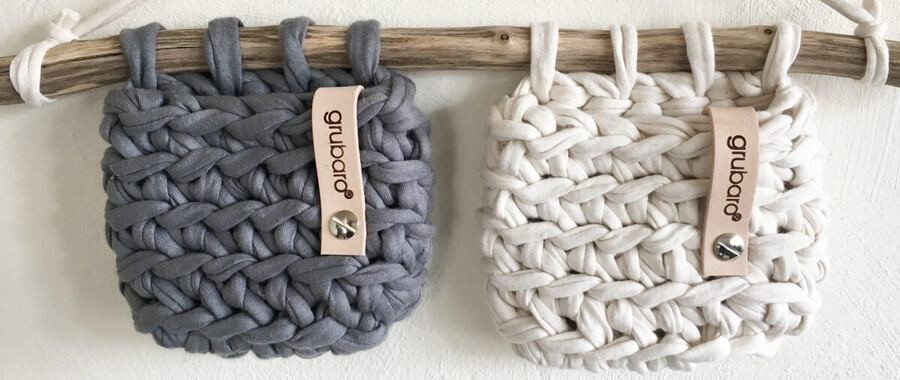 Wandutensilo-Set aus Orginal Textilo Textilgarn