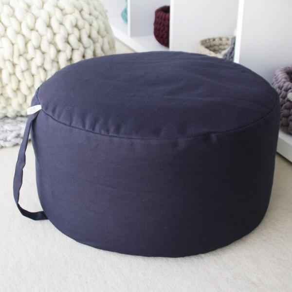 Sitzpouf schwarz Ø 45 cm