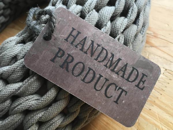 Handmade Label aus Zink
