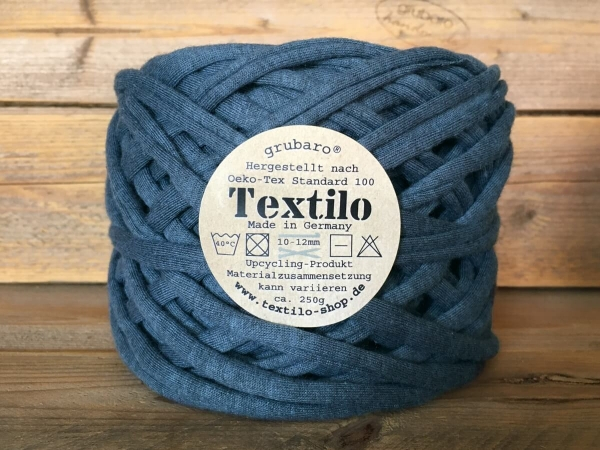 Textilo Jeansblau Melange Typ T Textilgarn