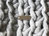 """Deko-Anhänger """"Handmade"""", Silber, 17 x 6mm"""