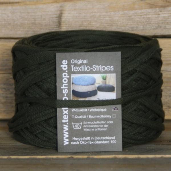 Textilgarn Textilo Stripe Kaki Typ W zoom