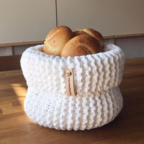 Strickkorb-Textilo-Weiss