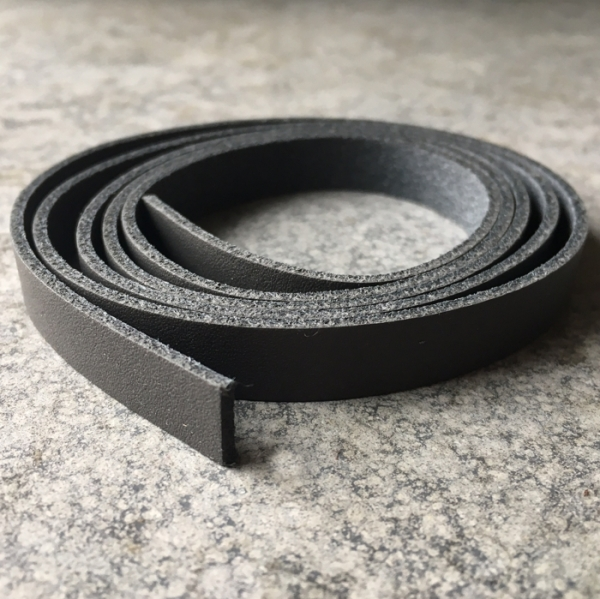 1 Meter Lederband 10mm breit Dunkelgrau