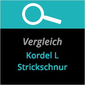 Vergleich Kordel - Strickschnur