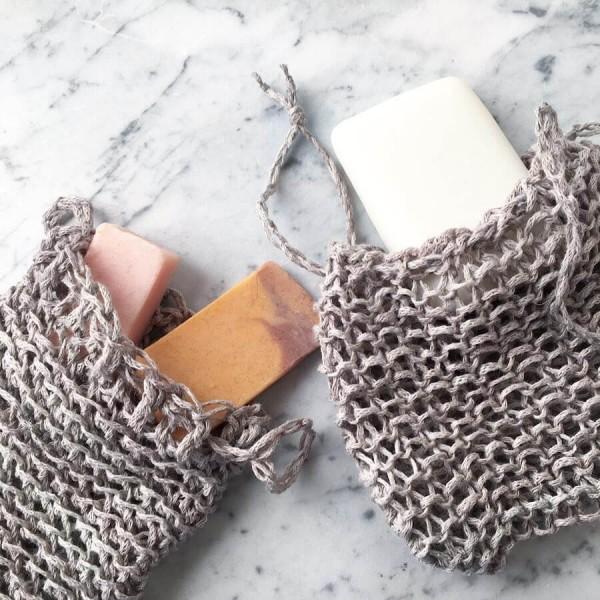 Beispiel 3 Seifensäckchen aus Leinengarn