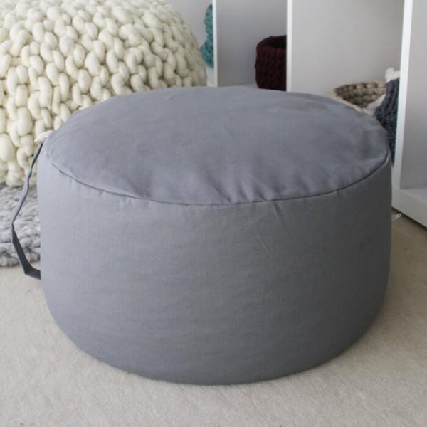 Sitzpouf grau Ø 45 cm