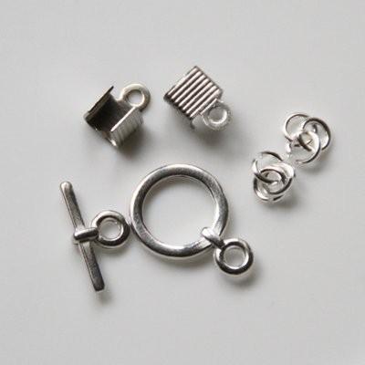 Verschluss-Set für DIY Schmuck rund