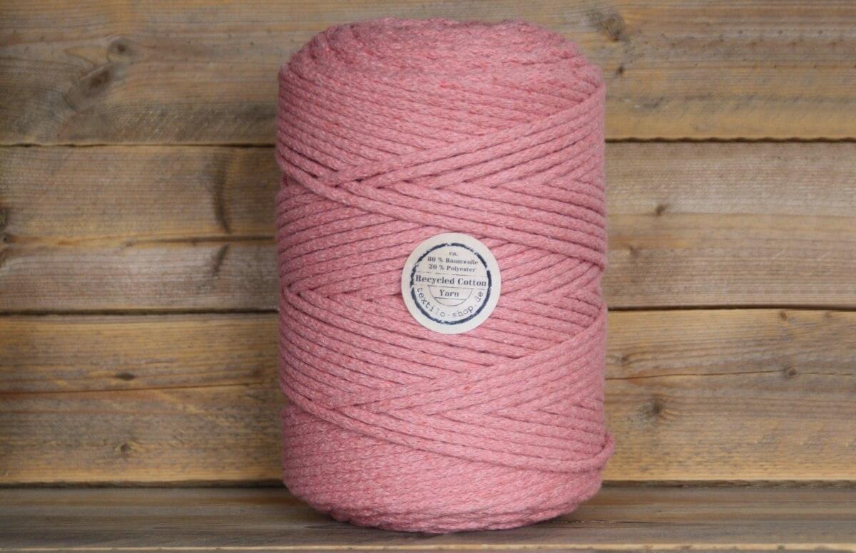 8 mm Kordelgarn Dusty Rosé