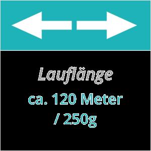 120 m Lauflänge pro 250g