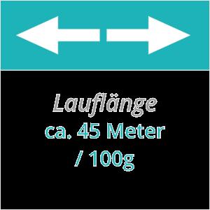 45 m Lauflänge pro 100g Jutegarn