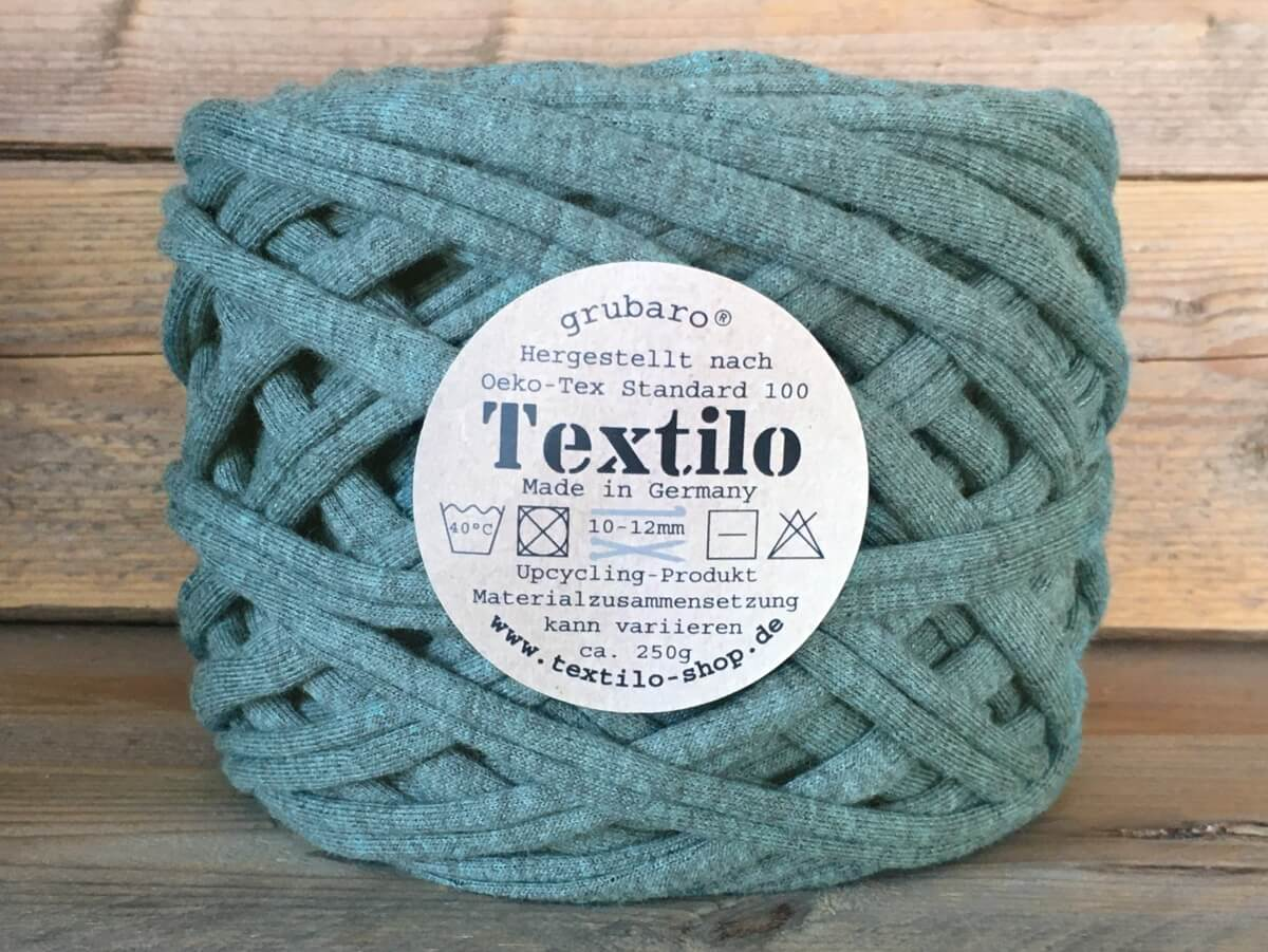 Textilo Textilgarn Salbeigrün-Melange Typ T