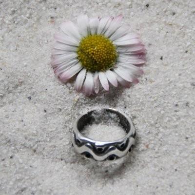 Metallscheibe Ring 15x5,5 mm versilbert 2