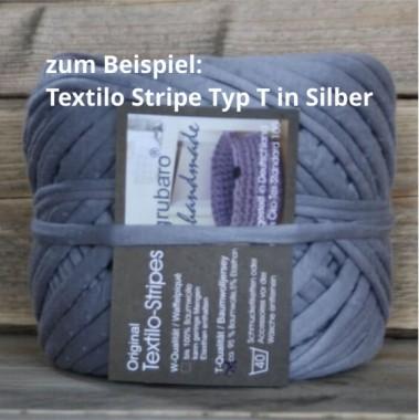 4 x Textilo-Stripe Silber in Typ T für den Adventskranz