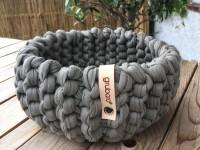 Strickkorb aus Textilo-Stripe, Ø20cm