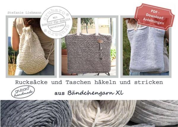 Ebook Cover: Rucksäcke & Taschen aus Bändchengarn