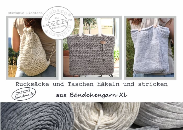 heft 9 rucks cke und taschen h keln und stricken aus b ndchengarn textilo shop der online. Black Bedroom Furniture Sets. Home Design Ideas