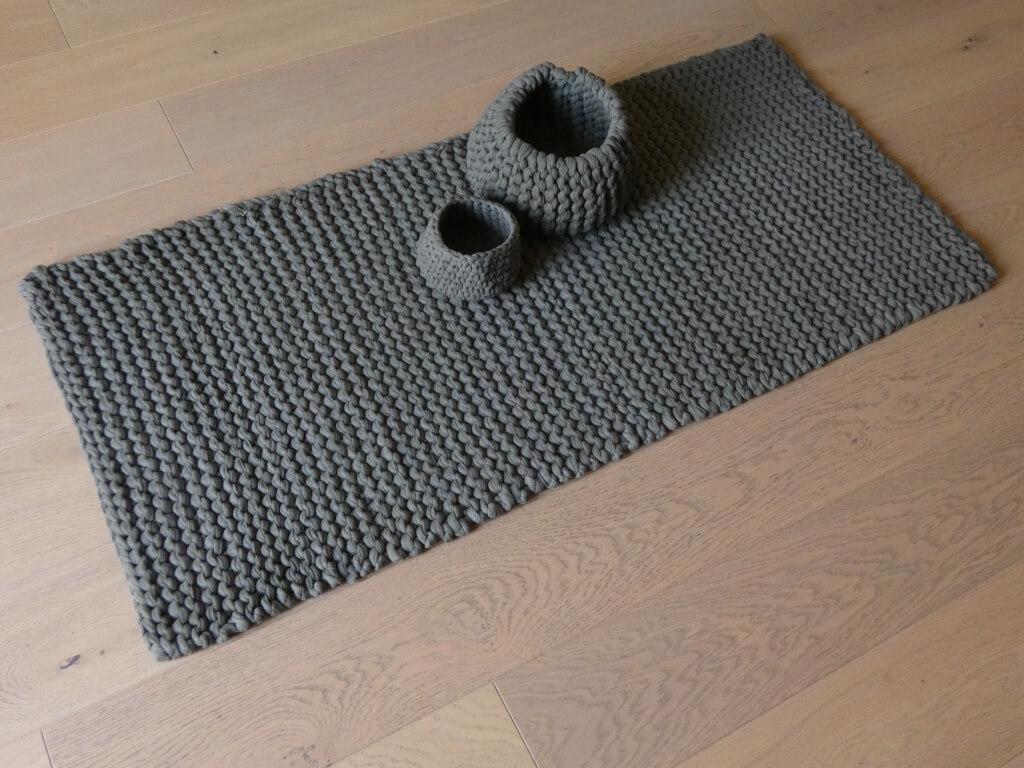 1 4 M Strickteppich Aus Newline Textilgarn