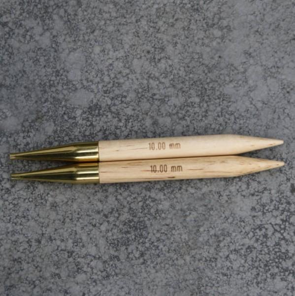 Stricknadel 10mm aus Holz