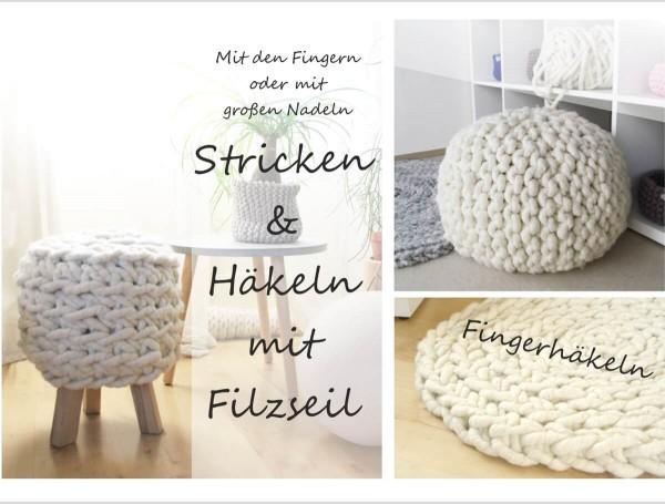 Stricken & Häkeln mit Filzseil als Download