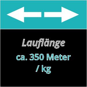 Lauflänge ca. 350 m