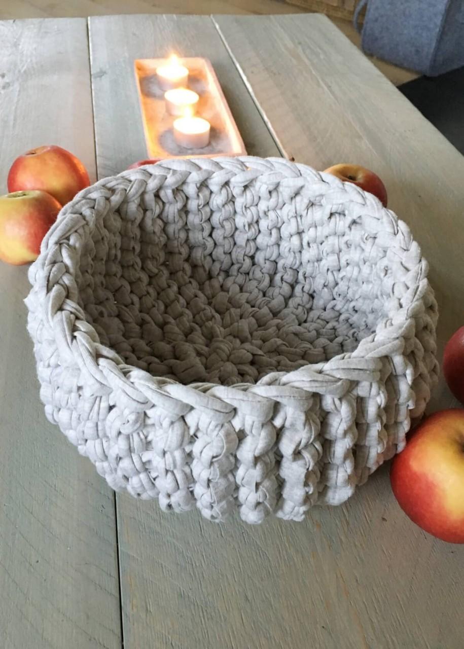Strickkorb aus NewLine Textilgarn